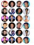 24 x Cliff Richard edible rice wafer paper bun cup cake top toppers